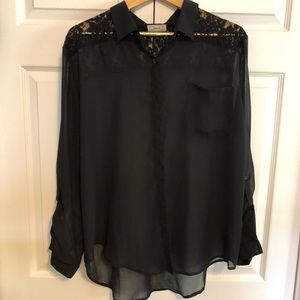 Sheer Button-up Blouse